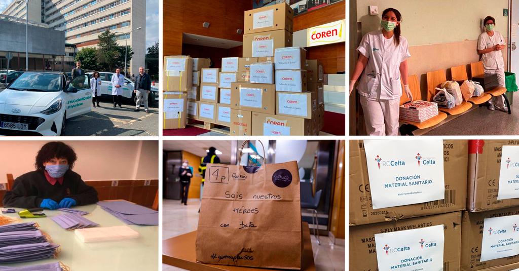 Iniciativas solidarias de nuestros clientes para luchar contra la pandemia