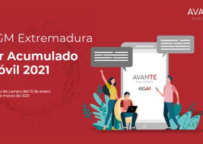 EGM 1º acumulado móvil EXTREMADURA 2021
