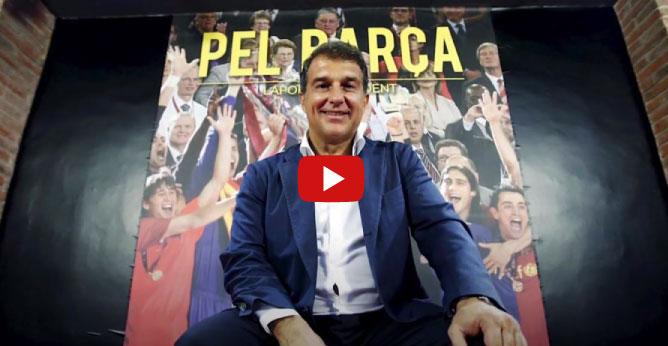 con nuestra campaña de Joan Laporta a la presidencia del Fútbol Club Barcelona